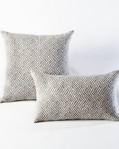 The Grey Maze Pillow  by HomeMint.com, $34.99