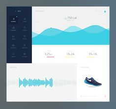 Fitness data dashboard by Gregoire Vella