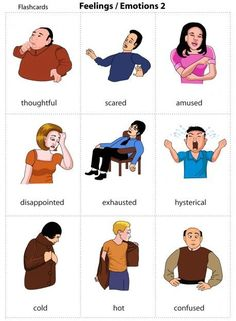 Feelings And flashcards English Resources, English Tips, English Study, English Words, English Lessons, English Grammar, Learn English, Grammar And Vocabulary, Grammar Lessons