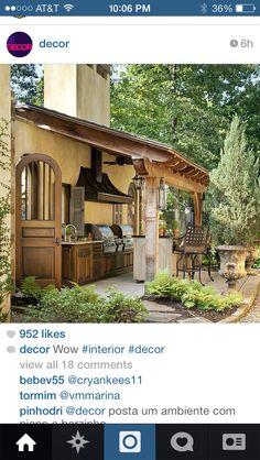 Great outdoor BBQ kitchen