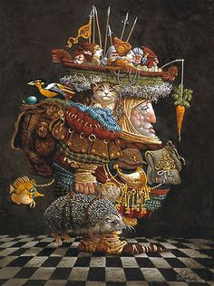 THE BURDEN OF THE RESPONSIBLE MAN By James C. Christensen Published by The Greenwich Workshop