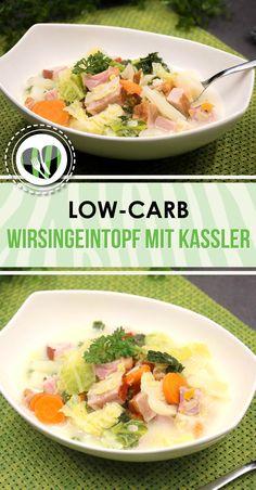 Der Wirsingeintopf mit Kassler ist low-carb, glutenfrei und lecker. zudem wärmt der Eintopf perfekt von innen.