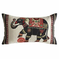 Royal Elephant Oblong Pillow on sale now for $10. This pillow is gorgeous!