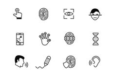Biometric and Security Icon Pack. This resource contains twelve biometric and security icons. Included are icons representing fingerprints, voice and eye recognition, and DNA, amongst others. Business Icon, Business Brochure, Biometric Devices, Biometric Security, Jump Quotes, Rock Climbing Gear, Iphone Icon, Site Website, Paint Markers