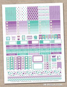 Winter Wonderland Printable Planner Stickers PDF Instant Download Weekly Graphics Kit