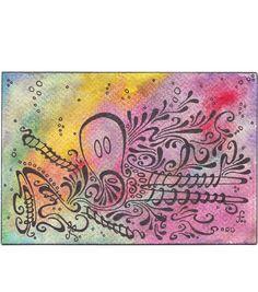 Pieuvre, octopus, craie et encre par TillyfoO ❤❤❤❤❤❤