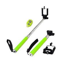 Amazon.com: FlyingBee Self Portrait Self Shot Monopod Selfie Stick With Phone Holder For Samsung iPhone Blackberry With Bluetooth Remote Camera Wireless Shutter (green): Cell Phones & Accessories