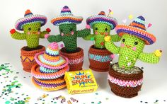 Cactus Party! If you need some firecrackers or a sombrero for the Fiesta, these little guys will be happy to oblige!