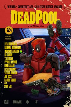 johnhughesart:  The Poster Posse strikes again, and this time, we're taking on Deadpool! Do you like Pulp Fiction? Do you like Deadpool? Well looky here! I smushed them together in this beautiful stroke of illustrative genius! Be sure to check out the rest of the Posse for more insane Deadpool art, chimichangas not included. (sorry) http://posterposse.com/