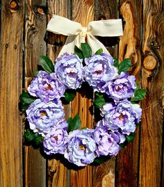 Hey, I found this really awesome Etsy listing at https://www.etsy.com/listing/183733511/peony-wreath-spring-wreath-purple-wreath