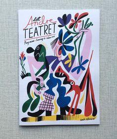 WEBSTA @ benkalt - Drew this for @detandreteatret 's new spring program. #illustration #illustrasjon #drawing #tegning #artwork #cover #design #coverdesign #piss #teater #theater #program #dog #flowers