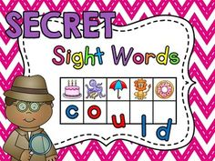 Sight Words practice with Secret Sight Words is one of my favorite sight word activities! 366 secret sight word activity cards that your students will LOVE! Students will take an activity card and figure out the beginning sound of each picture to reveal the secret sight word.