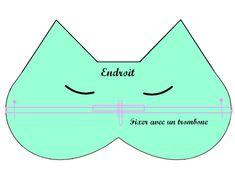 J'avais envie de vous montrer le masque de nuit «chat» que je me suis fabriqué dernièrement. Et comme je suis une fille vraiment trop sympa, tu peux télécharger le patron pour te faire le même : ICI ! Fournitures 2 coupons de tissu (environ...