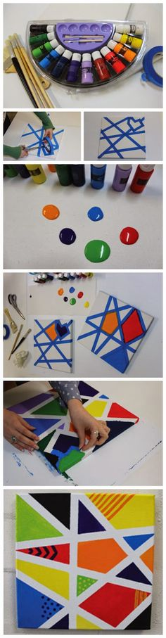 Fun Canvas Art for Kids-Heck this looks like fun for me :-)  #ElmersWetOnesGiveaway