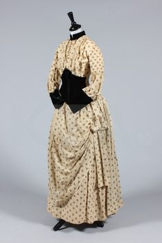 Dress, ca 1880's The lot contains a number of items, mostly from the 1890's. Click to go to the absentee bidding page. This Ker...