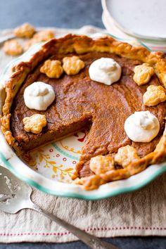 The most flavorful brown sugar and cinnamon spiced sweet potato pie! Easy homemade pie recipe on sallysbakingaddiction.com
