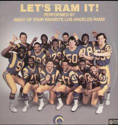 la rams | LOS ANGELES RAMS Let's Ram It! Red Entertainment Music Vinyl 12 Inch ...