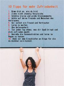 10 Tipps für mehr Zufriedenheit! #Glück #Zufriedenheit