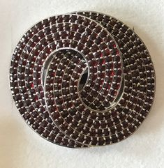This garnet brooch was gifted to the Queen on June 16, 2017 by President Miloš Zeman of Czech Republic on an official visit to the United Kingdom. The Czech Republic is one of the main producers of garnets on the global market.