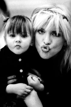 Courtney Love and Frances Bean Cobain. Cute pic, I just wish Court had done right by that girl.