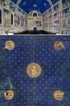 Giotto, Vault of Scrovegni Chapel, Padua (Fresco, Fresco, Land Art, Lapis Lazuli, Michelangelo, Philippe Sollers, Three Colors Blue, Cavalier Bleu, Les Fables, Fra Angelico