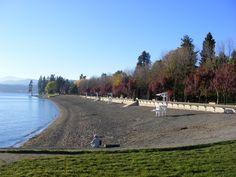 The beach at Coeur d'Alene Lake.