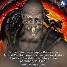 #CoxinhaCuriosa É a cara dele! Só que não!   #TimelineAcessivel #PraCegoVer  Imagem do Baraka de Mortal Kombat com a legenda:O nome do personagem Baraka em Mortal Kombat significa benção em árabe e paz em Swahlli! Perfeito para o personagem #sqn!   TAGS: #coxinhanerd #nerd #geek #geekstuff #geekart #nerd #nerdquote #geekquote #curiosidadesnerds #curiosidadesgeeks #coxinhanerd #coxinhagames #games #videogames #viciadosemgames #dicadegame #mortalkombat #baraka