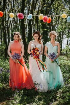 Colorful woodland fiesta inspired wedding ideas.