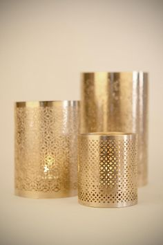 1000 images about perforated metal on pinterest - Punched metal candle holder ...