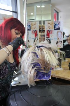 It's just another day and another scalp bleach at the HOA! #headingoutacademy #Melbourne #Fitzroy #hair #education #students #hohb www.headingoutacademy.com.au