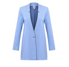 This is our organic cotton blazer DUNJA in a beautiful light blue color made out of organic cotton and a little elastane.