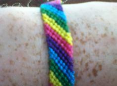 How to Make a Simple Striped Friendship Bracelet