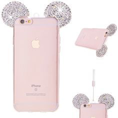 Bling Crystal Glitter Mouse Ears Phone Case for Samsung Apple Iphone 6, Iphone 7, Coque Iphone 6, Bling Phone Cases, Cell Phone Cases, Iphone Cases, Phone Covers, S8 Phone, Apple 6