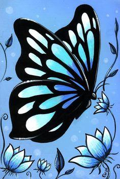 Butterflies And Flowers 11 Painting  - Butterflies And Flowers 11 Fine Art Print