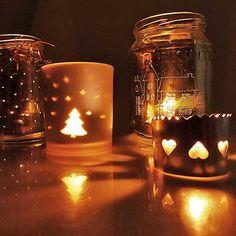 Hangulatos mécsestartók alufóliával - Art-Export webáruház Candle Holders, Candles, Cosy, Shop, Art, Art Background, Kunst, Porta Velas, Candy