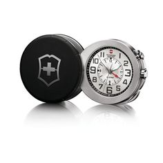 Victorinox Swiss Army 125th Anniversary Black Travel Alarm Pocket Watch