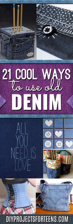 DIY Crafts with Old Denim Jeans - Cool Projects and Fashion You Can Make With Old Jeans - Fun Crafts for Teens and Adults, Inexpensive Ones!