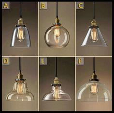 Ac100 240v Lustre Classic Vintage Chandelier Light Cafe Creative Glass Pendant…