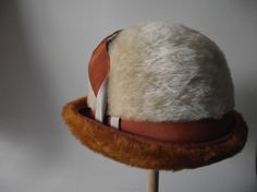 1950s Hat / Fur Derby  / Milinery Cream and by RavishingRuby, $42.00
