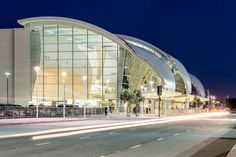 San Jose Mineta Airport International Terminal - Fentress Architects San Jose, Marina Bay Sands, Opera House, Gate, Clouds, Architecture, Building, Travel, Arquitetura