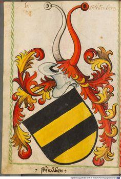 Scheibler'sches Wappenbuch Süddeutschland, um 1450 - 17. Jh. Cod.icon. 312 c  Folio 34
