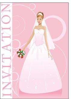 Carte Invitation mariage pour envoyer par La Poste, sur Merci-Facteur !