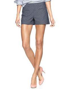 Polka dot chambray shorts   Gap