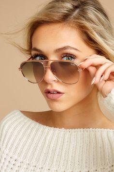 f8846e8b66 Quay Australia Sunglasses - Rose Gold Aviators - Eyewear -  65.00 – Red  Dress Boutique Rose
