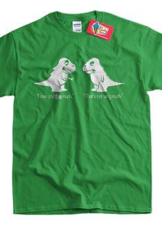 Trex TShirt tyrannosaurus rex TShirt I Love You di IceCreamTees, $14,99