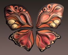 Butterfly polymer clay, masa flexible, cold porcelain, pasta flexible, salt dough, pasta de sal, fimo, cernit, arcilla polimero, pasta francesa, porcelana fria