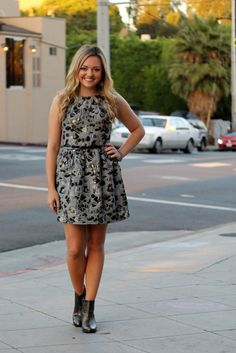 Dress with Booties in LA