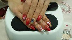 #nail #nails #nailart #christmasnail #christmasnailart #christmasideas #nailsideas #marrychristmas #ricostuzione #gel #unghienatalizie