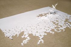 Peter Callesen/ Boat sinking in Ice cut from a Single Piece of Paper