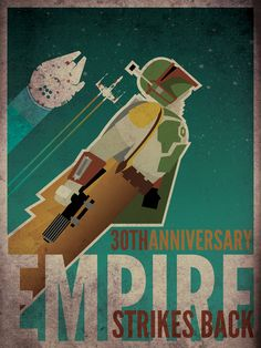Pretty neat Star Wars poster with a vintage look.